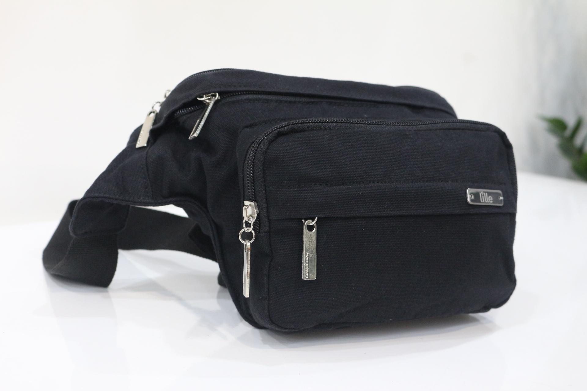 Túi bao tử BUM CANVAS BAG - màu đen