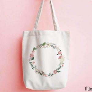 Túi tote vòng hoa
